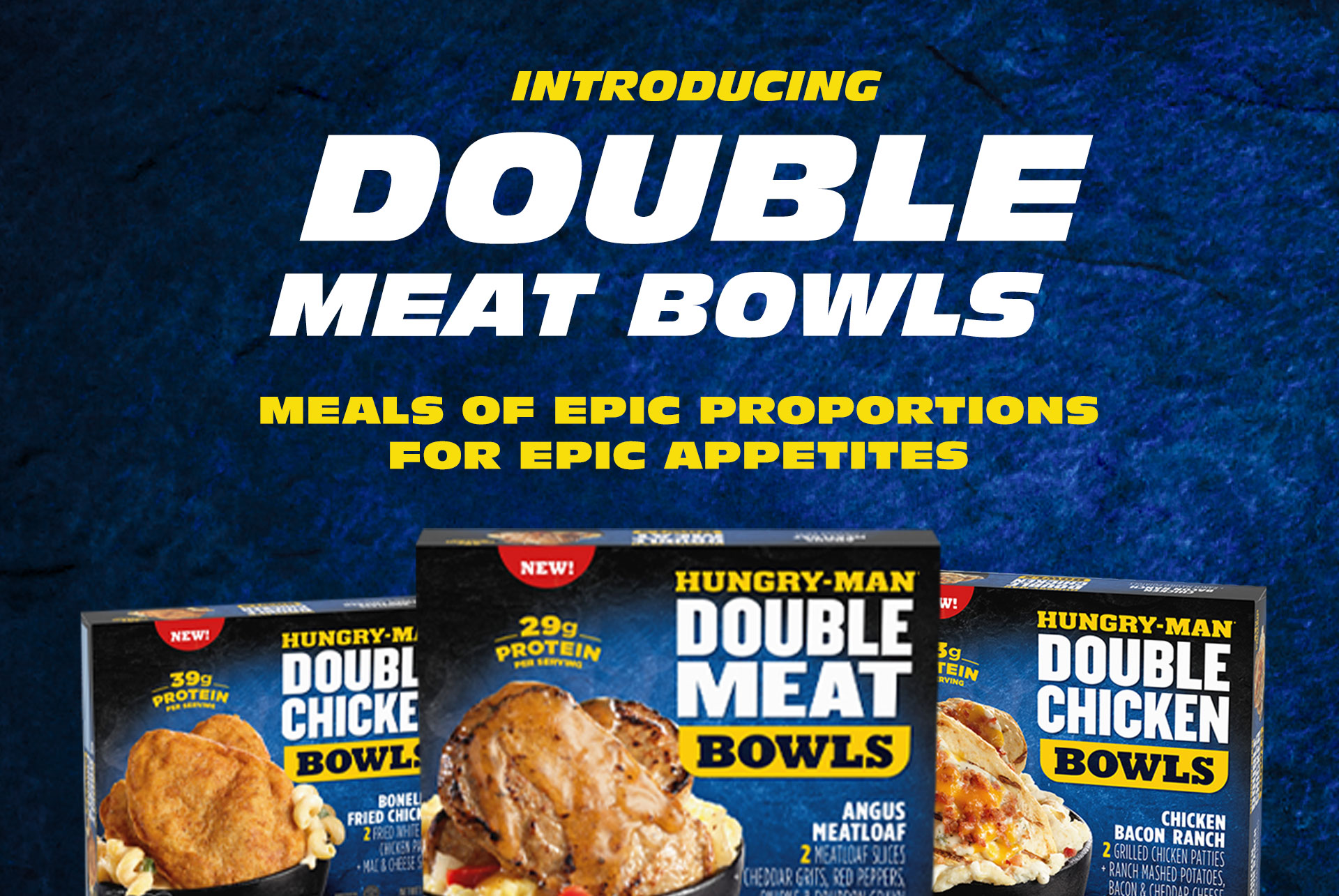 Introducing New Double Meat Bowls